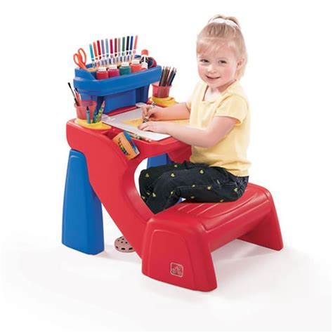 kids desk for two step2 write desk kids drawing table bench chair childrens