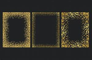 Gold glitter frames by Paper Farms | TheHungryJPEG.com