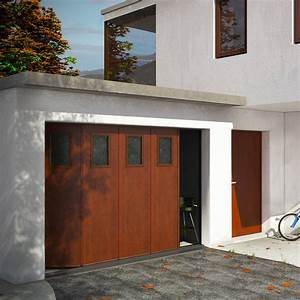 porte de garage sectionnelle surf laterale franciaflex With porte de garage enroulable et porte interieur isolation thermique