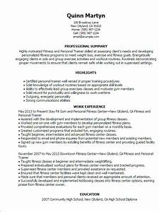professional fitness and personal trainer templates to With fitness resume template