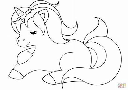 Unicorn Coloring Pages Easy Visual