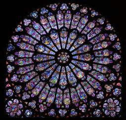 notre dame stained glass - Glas Design Window Color