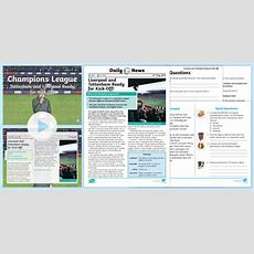 * New * Uks2 Champions League Daily News Resource Pack English