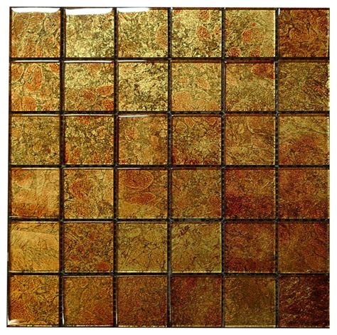 copper mosaic tile w28 copper glass mosaic contemporary tile los