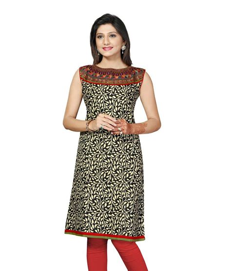 Boat Neck Kurti Tops by 55 On Taaga Printed Woven Boat Neck Kurti On Snapdeal