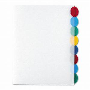 avery 8 tab style edge insertable tab reference dividers With avery template 11201