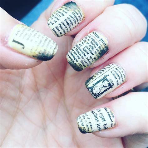 newspaper nail art designs ideas design trends