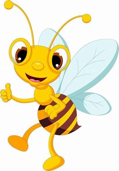 Bee Clipart Cartoon Funny Clip Bees Illustration