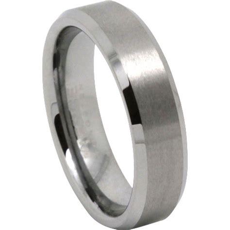 mens rings titanium and tungsten wedding rings