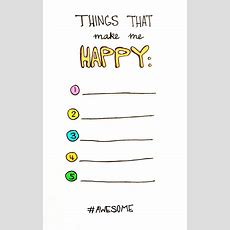 Free Printable  Things That Make Me Happy  Would Make A