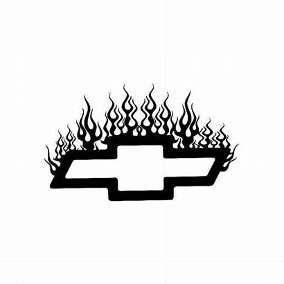 Chevy Decal Flame Jdm Logos Stencil Calculated
