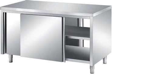rangement inox cuisine meuble bas central traversant p 800 mm stl sarl