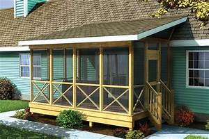 Project Plan 90012 - Screened Porch w/ Shed Roof
