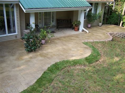 st louis missouri free form sted concrete patio