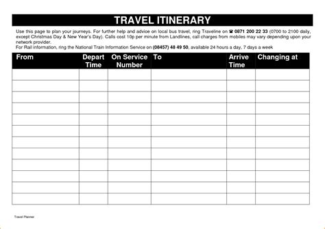 trip itinerary template teknoswitch