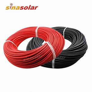 High Quality 6mm(10awg) Solar Cable PV Cabel With TUV UL ...