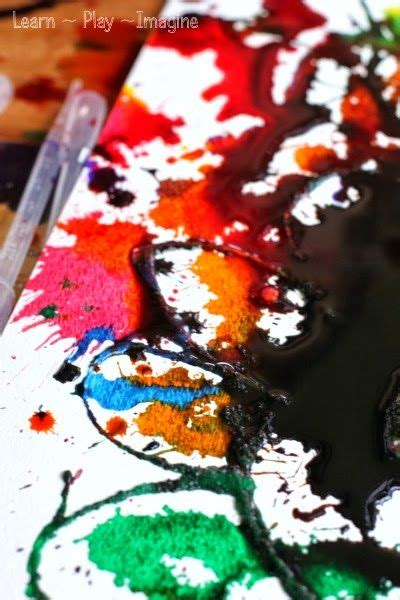 Erupting Watercolor Absorption Art ~ Learn Play Imagine ...