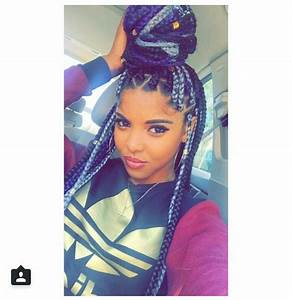 Grey, black, and purple box braids | Inspiration For My ...