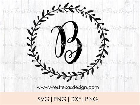 monogram wreath letter bfarmhouse styleletter wreath etsy monogram printable monogram