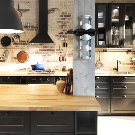 cuisine abstrakt gallery of cuisine bois noir ikea ikea le nouveau concept