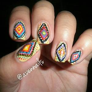 Tribal fusion nail art design | morgan | Pinterest
