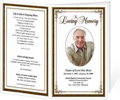 free memorial card template creative funeral program template 6 colors memorial