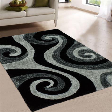 and black area rugs allstar rugs tufted black area rug wayfair ca 7659