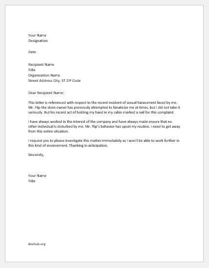 Complaint Letters for Unfair Treatment   Document Hub