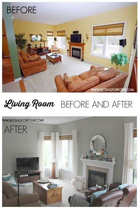 before and after room makeovers my quickandeasy living room before after makeover setting for four