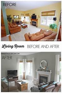 My quickandeasy living room before after makeover for Living rooms before and after makeover