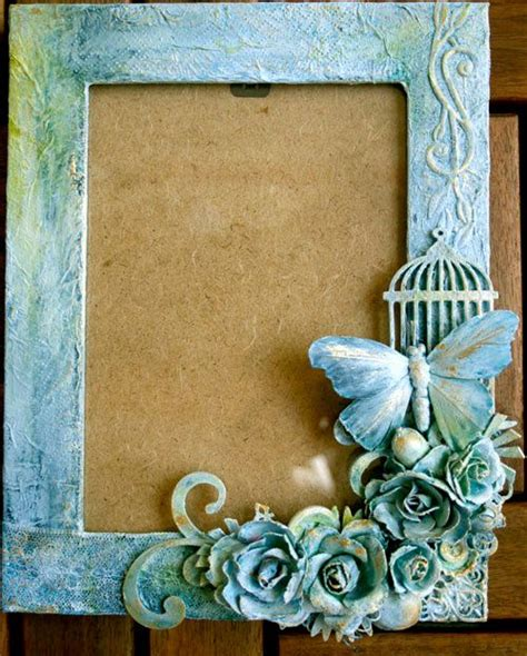 Butterfly Frame Altered Frames Pinterest