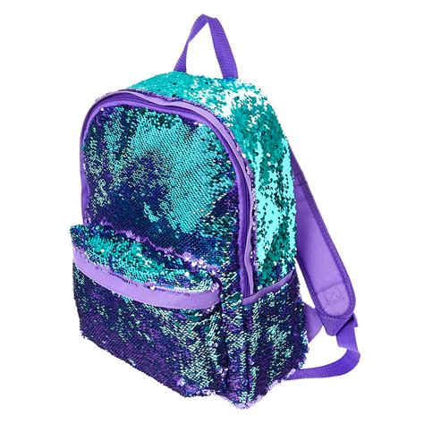 reversible purple to turquoise sequin backpack 39 s us