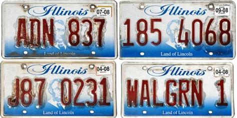 Vanity Plates In Illinois by Defective Illinois License Plates Still On The Road A