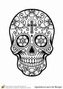 Tete De Mort Mexicaine Dessin : coloriage squelette sucre multiples fleurs calaveras ~ Melissatoandfro.com Idées de Décoration