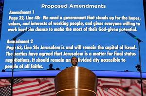 Pushed by Obama, Democrats Alter Platform Over Jerusalem ...