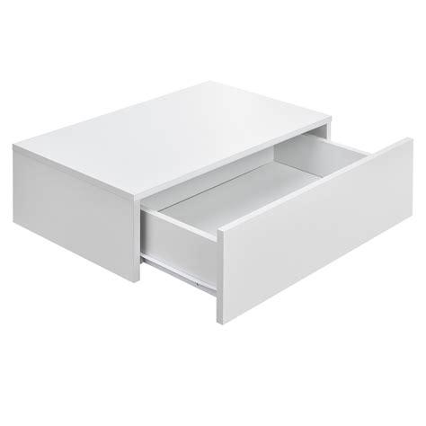 [encasa]® Wandregal Mit Schublade Weiß Hängeregal Wand