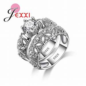 jexxi 925 sterling silver wedding ring sets for women With sterling silver wedding rings for women