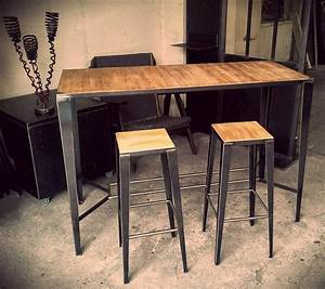 Table Haute En Bois : 25 parasta ideaa pinterestiss table haute bar table ~ Dailycaller-alerts.com Idées de Décoration