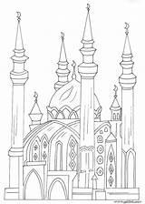 Mosque Coloring Buildings Architecture Kinder Printable Malvorlagen Moschee Ideen Lecture Islamische Islam Recommande Cet Anmalen Prinzessin Disney sketch template