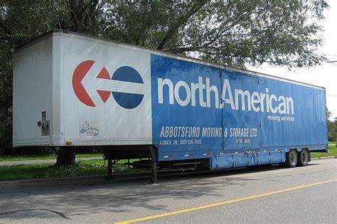 North American Van Lines moving van trailer Gatineau, Queb ...