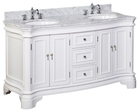 houzz bathroom vanities white katherine 60 quot bath vanity traditional bathroom