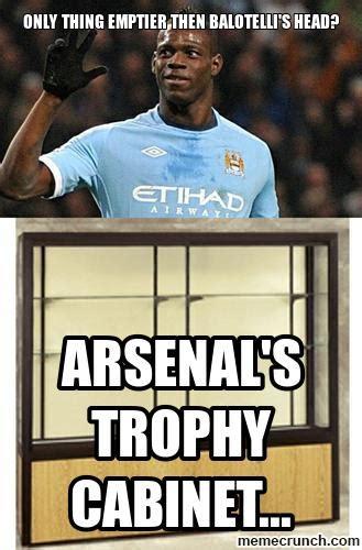 Football Memes Arsenal - arsenal s trophy cabinet