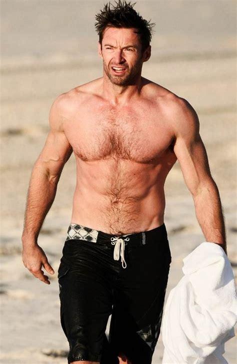hugh jackman beach shirtless height
