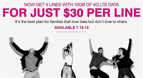 New Tmobile Family Plan Offers Four Lines With 10 Gb Of Data Each At $120 Macrumors