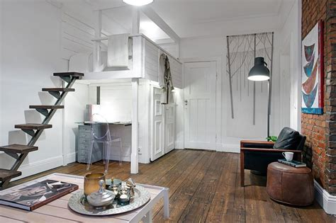 Chic Scandinavian Studio With Lofted Bed : The Delightful Design Of The Studio Flat Scandinavian Style