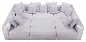 Modular miami bonded leather white 6 piece set modern for 6 piece modular sectional sofa leather