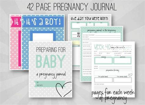 Pregnancy Journal Template by Pregnancy Journal Weekly Pregnancy Log Printable