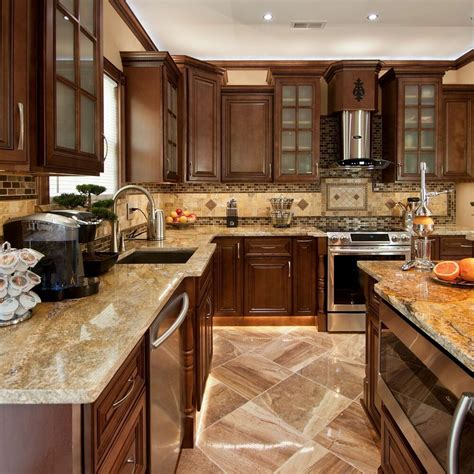 geneva  wood kitchen cabinets chocolate stained maple
