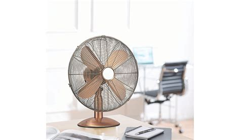 Oscillating Desk Fan Asda by Oscillating 10 Inch Copper Desk Fan Home Garden
