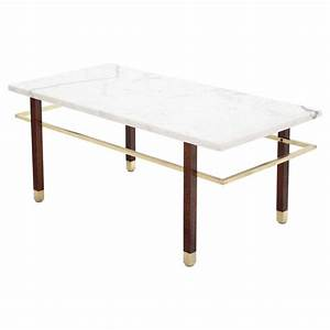 Harvey probber marble top rectangular coffee table w for Marble top coffee table rectangle